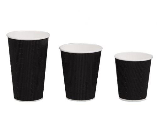 12oz Triple Wall Coffee Cup - Black