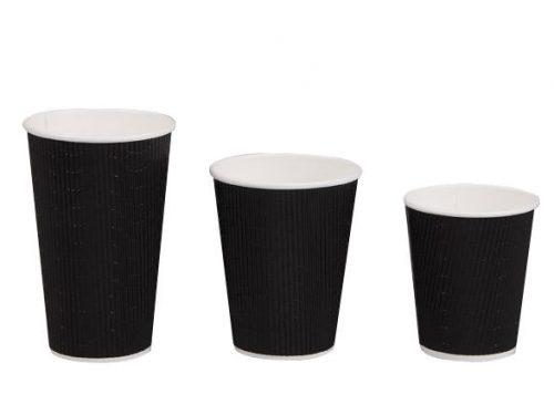 16oz Triple Wall Coffee Cup - Black
