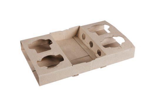 2+2 Cardboard Coffee Cup Tray